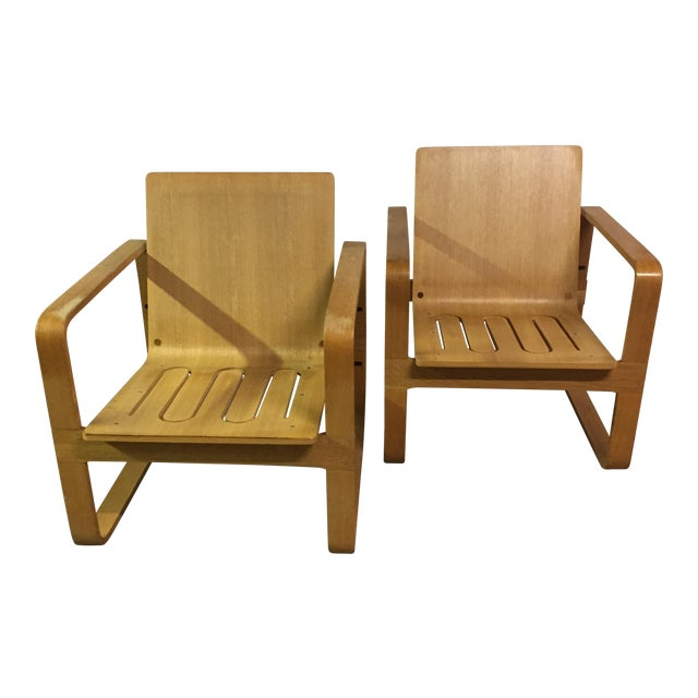 Modern Bentwood Club Chairs - A Pair - Image 1 of 5