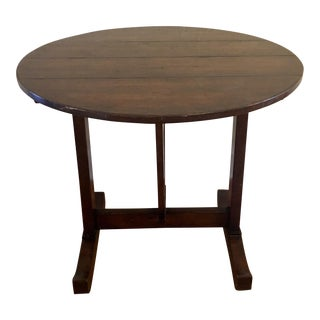 Antique French Country Tilt Top Wine Table