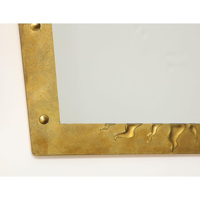 David Marshall Èglomisé Mirror For Sale - Image 12 of 13