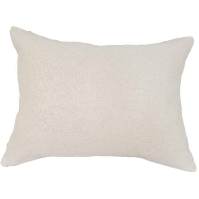 Silk Uzbek Ikat Velvet Hand Made Pillow Cushion with natural linen backing and hidden zipper. 10/90 down feather insert is...