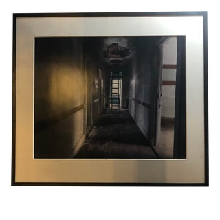 Framed Photograph of an Abandoned Hallway For Sale