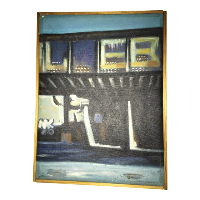 Canvas Beach House Oil Painting For Sale