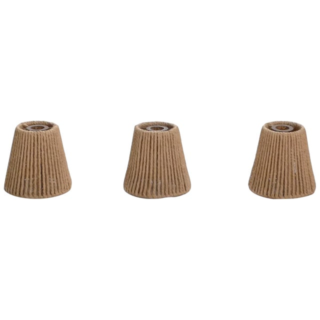 Audoux Minet Small Rope Shades, 1960s - Set of 3 For Sale