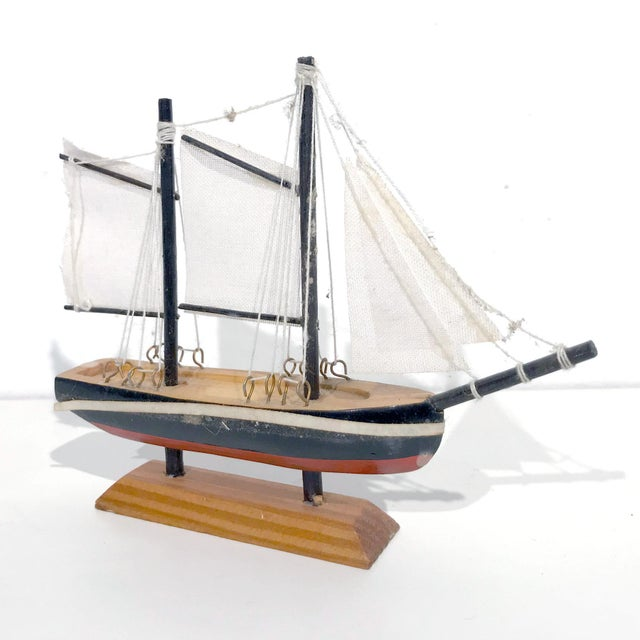 Nautical Wooden Model Sailing Ship - Image 6 of 11