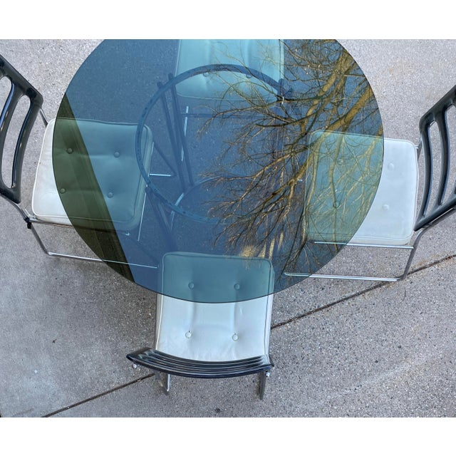 Vintage Chromcraft Chrome & Smoke Glass Dinette Set - 5 Pieces For Sale - Image 10 of 13