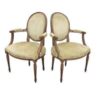 Late 18th Century Antique French Fauteuils- A Pair For Sale
