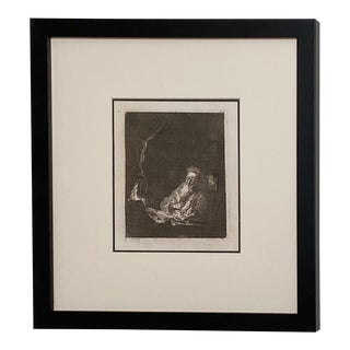 Late 18th Century Rembrandt Etching #28, by Francesco Novelli For Sale