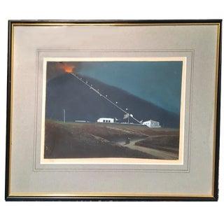 Mount Vesuvius Gouache Painting