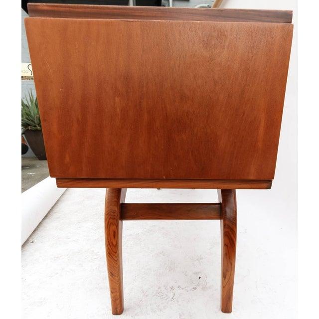 Brown Scapinelli 1960s Brazilian Caviuna Console Table Desk For Sale - Image 8 of 9