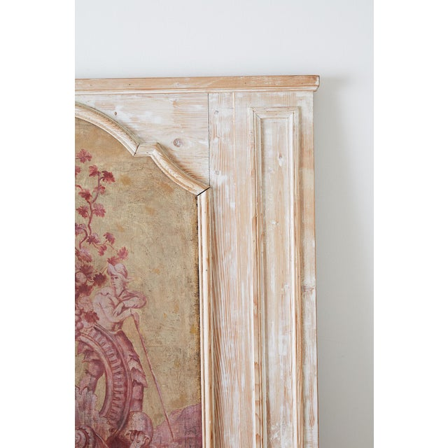 19th Century French Provincial Painted Trumeau Mirror For Sale In San Francisco - Image 6 of 13