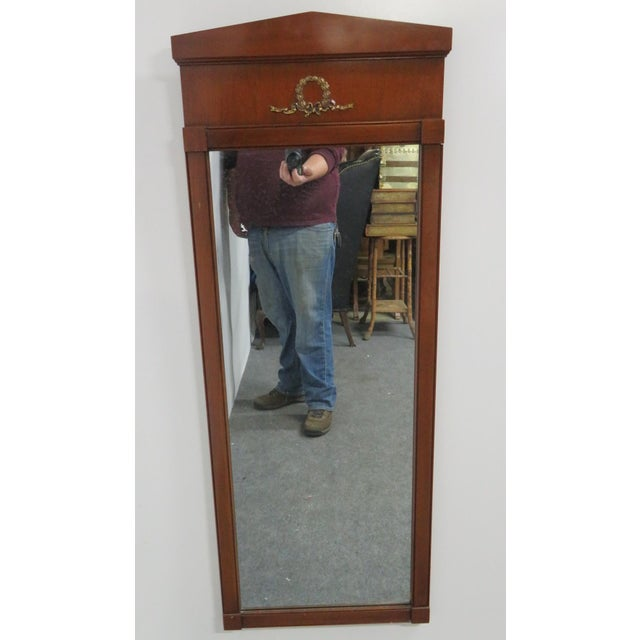 Mid 20th Century French Empire Cherry Mirror For Sale - Image 5 of 5