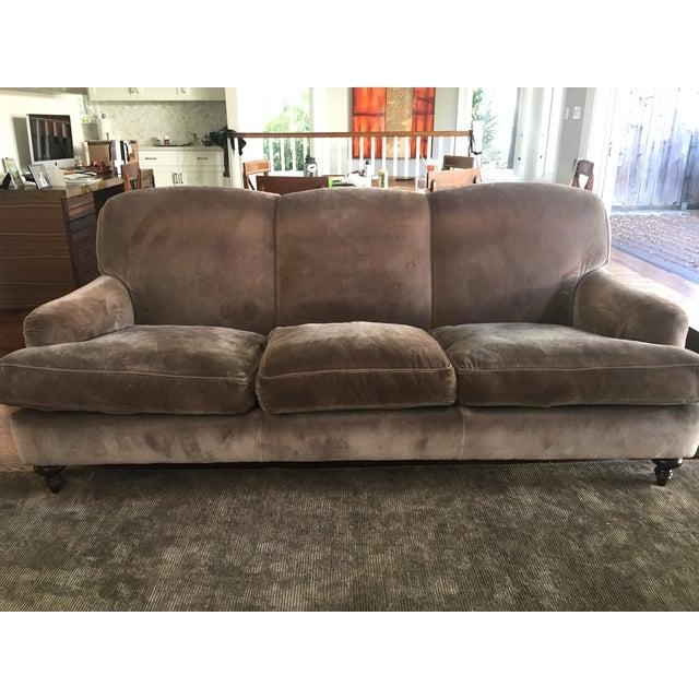 Cotton Velvet Upholstered Rudin Sofa - Image 3 of 4