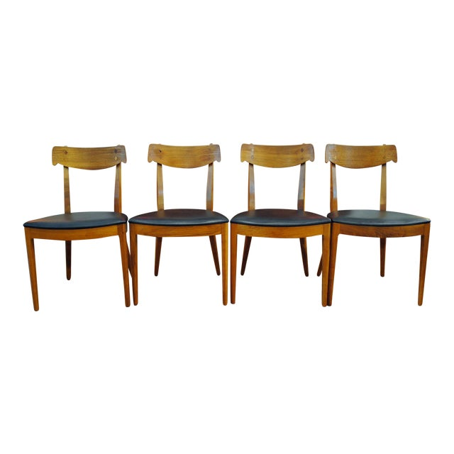 Kipp Stewart for Drexel Declaration Mid-Century Dining Chairs - Set of 4 For Sale