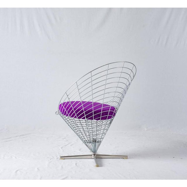 "Verner Panton Verner Panton ""Wire Cone"" Chair For Sale - Image 4 of 11"