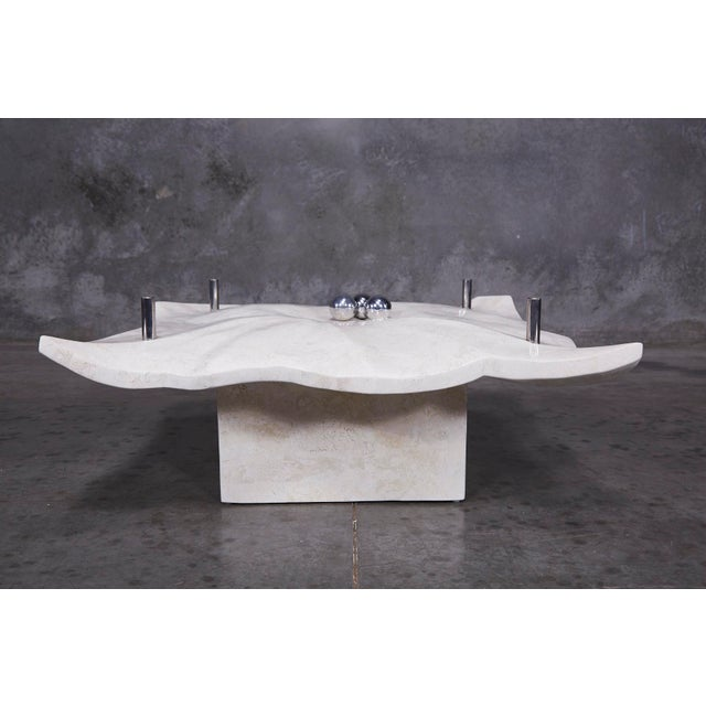 """1990s Post-Modern Tessellated Stone """"Chiseled"""" Cocktail Table For Sale - Image 11 of 13"""