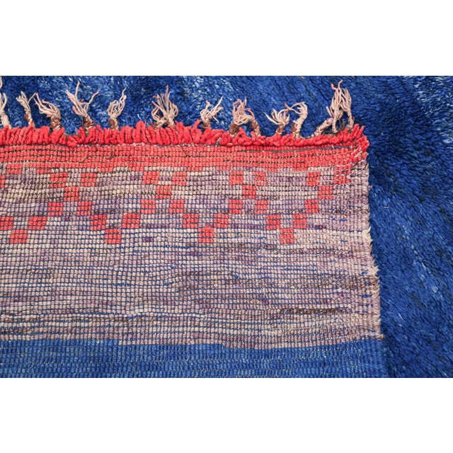 Textile Vintage Moroccan Rug - 6′ × 8′9″ For Sale - Image 7 of 11