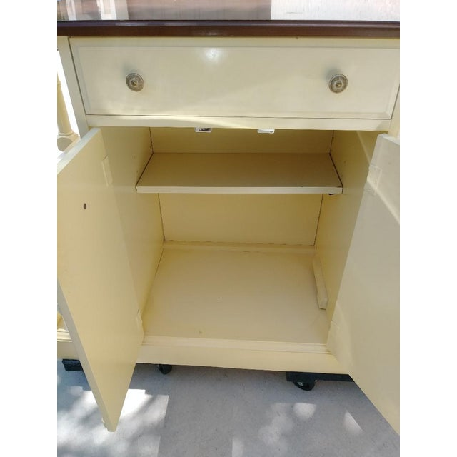 Thomasville Vintage Faux Bamboo Pam Beach Regency Center Island Buffet Cabinet For Sale - Image 4 of 7