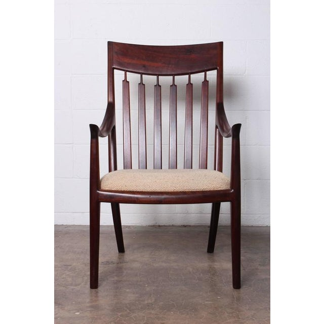 Walnut Craft Armchair by John Nyquist - Image 3 of 10