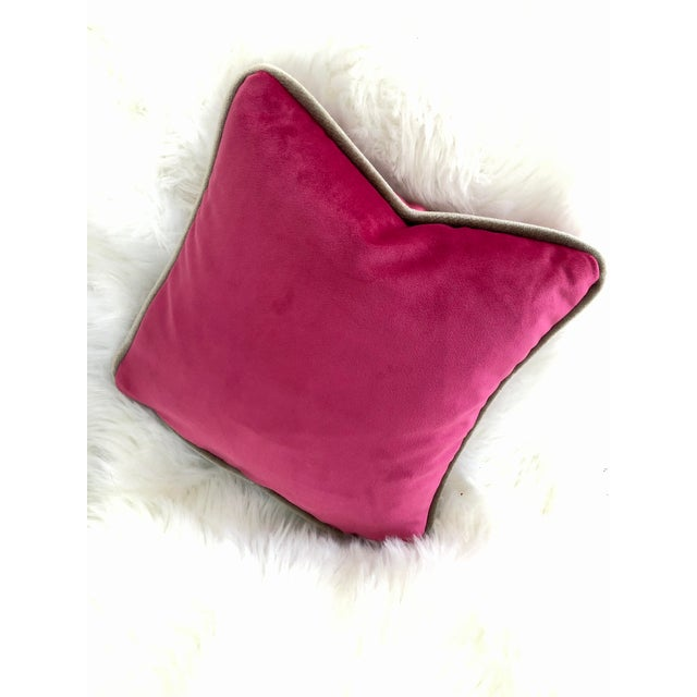 You don't need a lot . . . just the most perfect pop of color! Gorgeous, hot pink velvet pillow is tailor-made with...