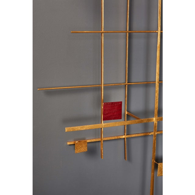 Modern Enamel and Gold Leaf Sculpture by Robert Hogue For Sale - Image 3 of 8