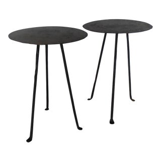 Round Tripod Side Tables For Sale