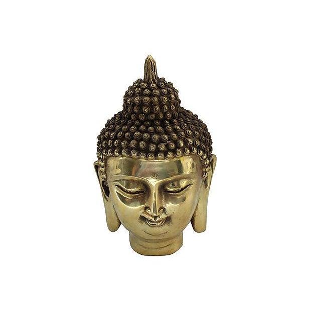 Brass Buddha Head Statue - Image 6 of 6