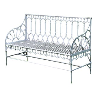 Late 19th Century Gothic Garden Bench For Sale