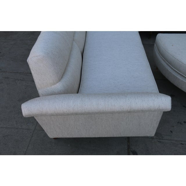 Mid-Century Modern 1960s Mid Century Modern 4 Piece Sectional and Ottoman - Set of 4 For Sale - Image 3 of 10
