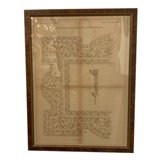 Late 19th Century Antique Architectural Print For Sale