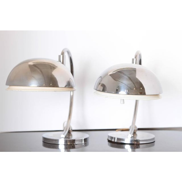 Pair of Machine Age Art Deco Articulating Table Lamps For Sale - Image 10 of 11