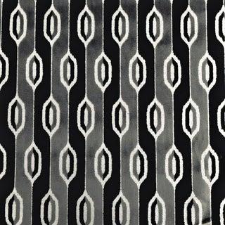 Boho Chic Nobilis Retro Geometric Cut Velvet Designer Fabric by the Yard For Sale