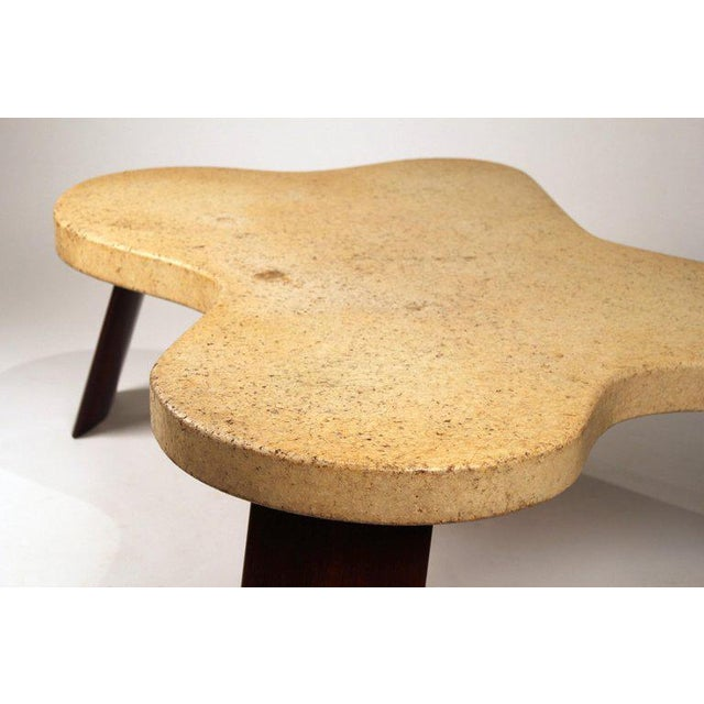 Paul Frankl Paul Frankl Cork Top Amoeba Coffee Table for Johnson Furniture For Sale - Image 4 of 10