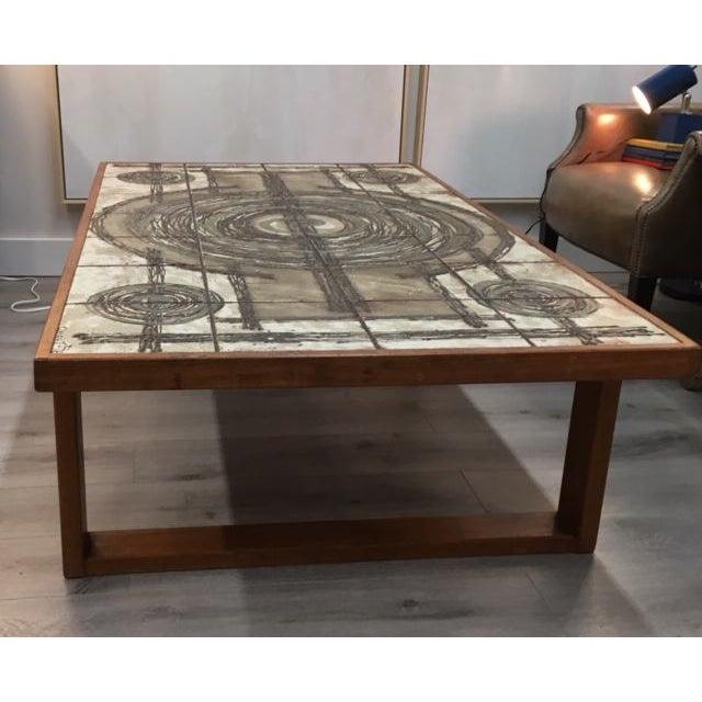 Modern Danish Tile/Teak Coffee Table For Sale - Image 3 of 8