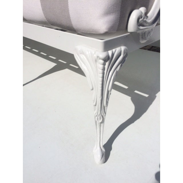 1960s Metal Garden Sofa With Sunbrella Cushions For Sale - Image 5 of 13