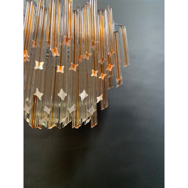 Vintage 1970s Venini Murano Glass Chandelier For Sale In Los Angeles - Image 6 of 12