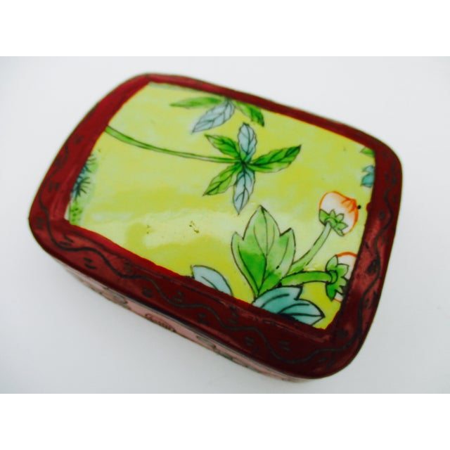 Asian Lacquer Porcelain Boxes - Set of 3 - Image 10 of 10