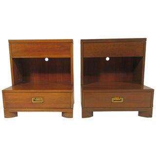 Pair of Midcentury John Widdicomb Nightstands For Sale