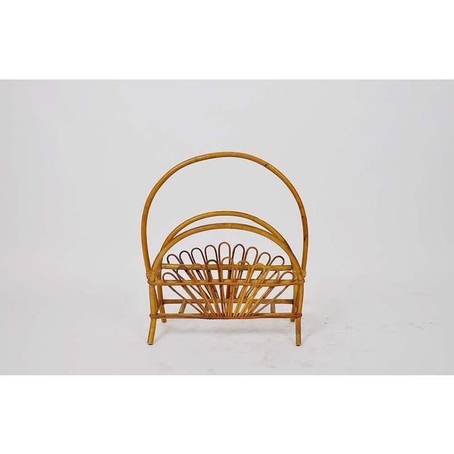 Vintage bamboo rattan magazine rack. A beautiful and elegant piece to display your magazines!