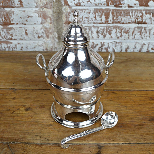 Egyptian Sterling Silver Warming Pot - Image 5 of 10