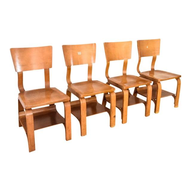thonet mid century child sized bentwood chairs set of 4 chairish