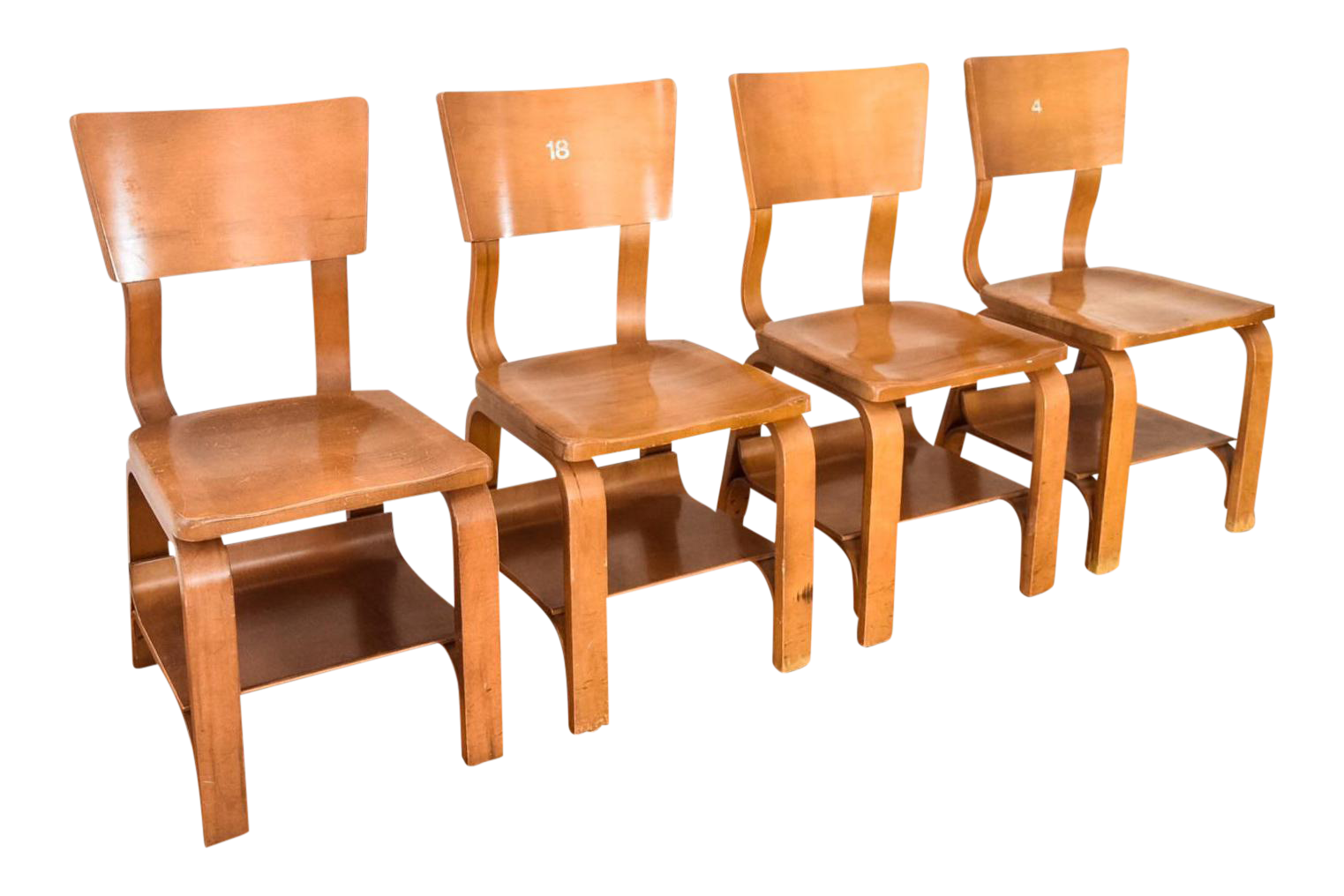 Merveilleux Thonet Mid Century Child Sized Bentwood Chairs   Set Of 4