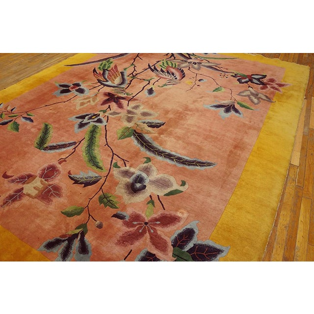 "1920s Chinese Art Deco Rug - 8'9""x11'6"" For Sale - Image 4 of 7"