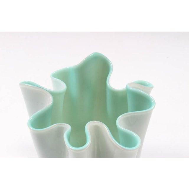 Mid-Century Modern Vintage Hand-Blown Handkerchief Murano Glass Vase For Sale - Image 3 of 5