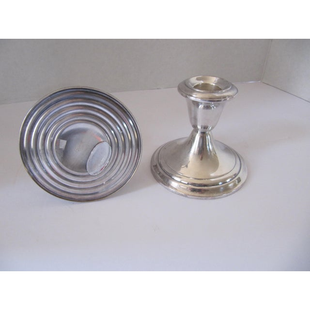 Traditional Vintage Gorham Silver-Plate Candle Holders - 2 Pieces For Sale - Image 3 of 4