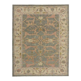 Contemporary Turkish Oushak Rug with Modern Style in Soft Colors