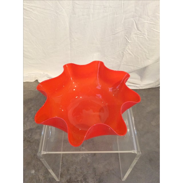 Mid-Century Modern Venini Style Handkerchief Bowl - Image 3 of 3