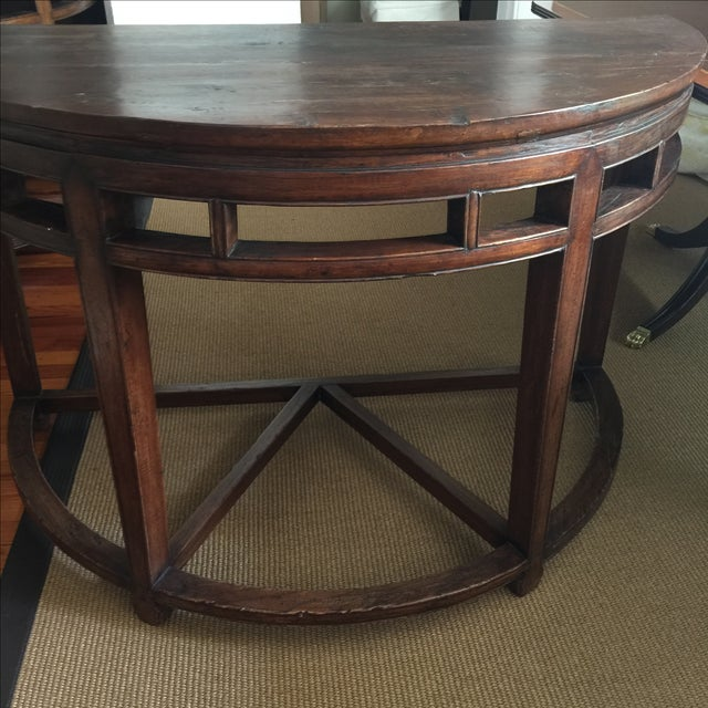 Anitique Chinese Chinois Demilune Tables - Pair - Image 7 of 10