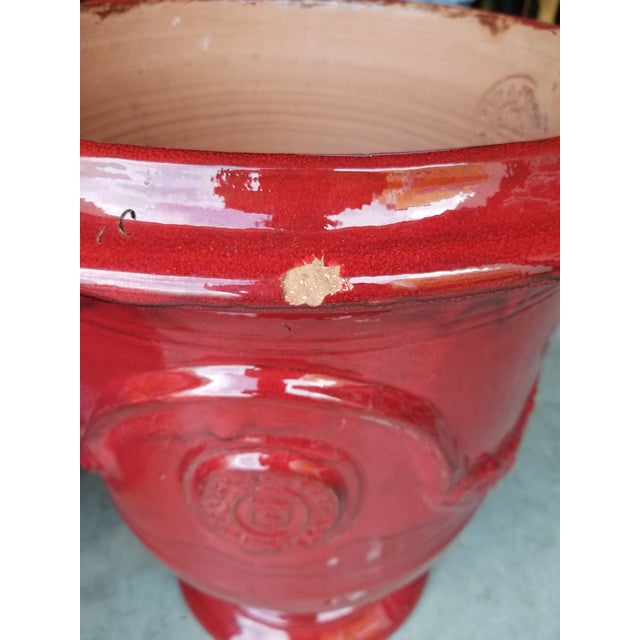 French Anduze Red Terracotta Planters- A Pair For Sale - Image 4 of 5