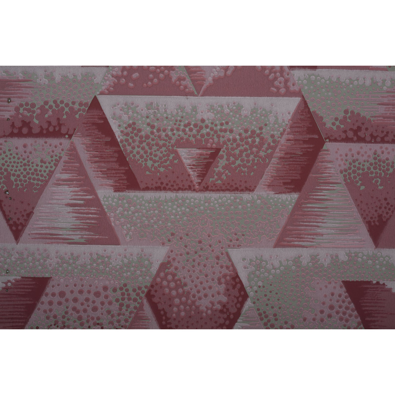 Geometric Art Deco Wallpapetr Sample Art Chairish