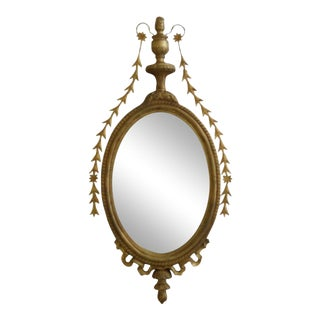 Gold Framed Adam Style Wall Mirror For Sale